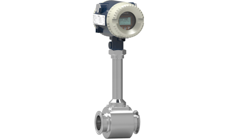Sanitation type vortex flowmeter