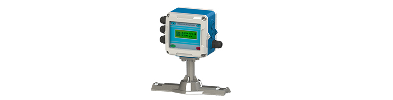Fixed integrated ultrasonic flowmeter